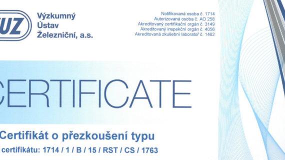 Certifikace modulu TRC-2